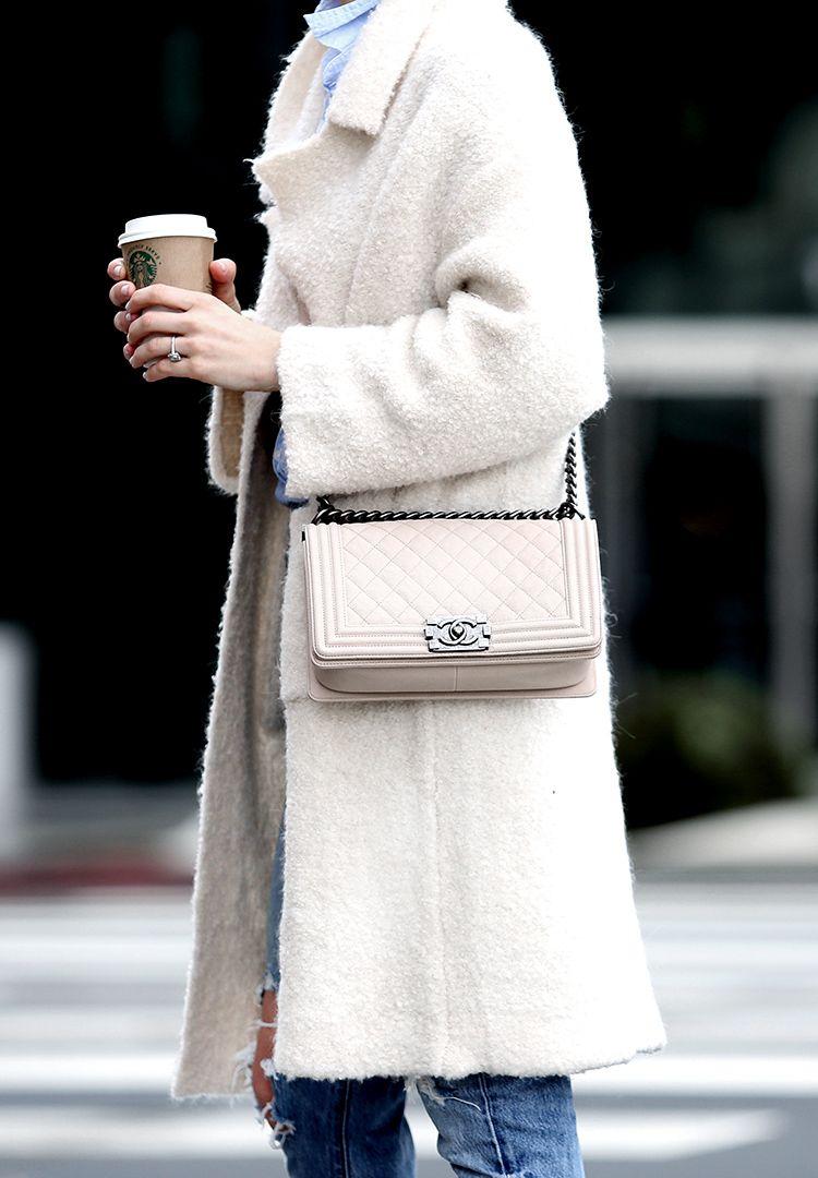Chanel Ivory Boy Bag, Brooklyn Blonde