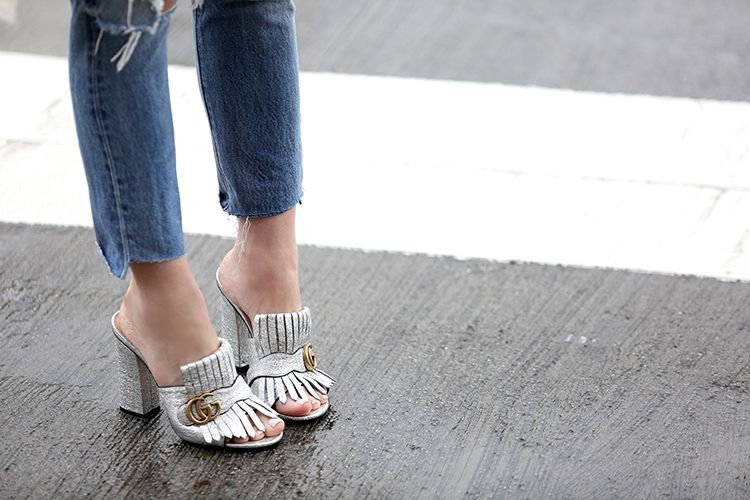 Gucci Marnmont Fringed Mules | Brooklyn Blonde
