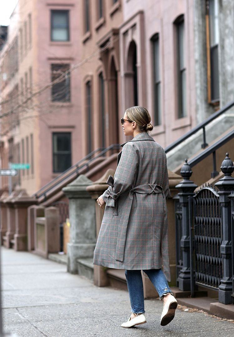 Topshop Check Trench Coat, Spring Style, Helena of Brooklyn Blonde