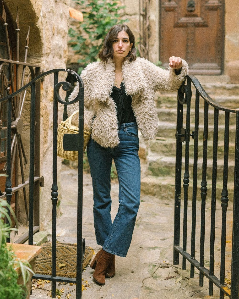 The best fluffy coat to wear all winter long
