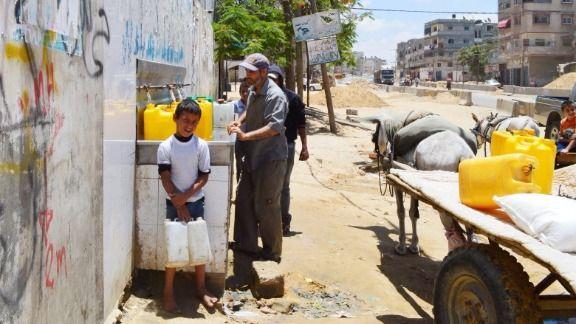 Water Fountain in Gaza