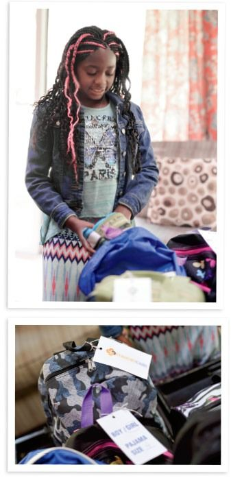 Amaya packing her bags