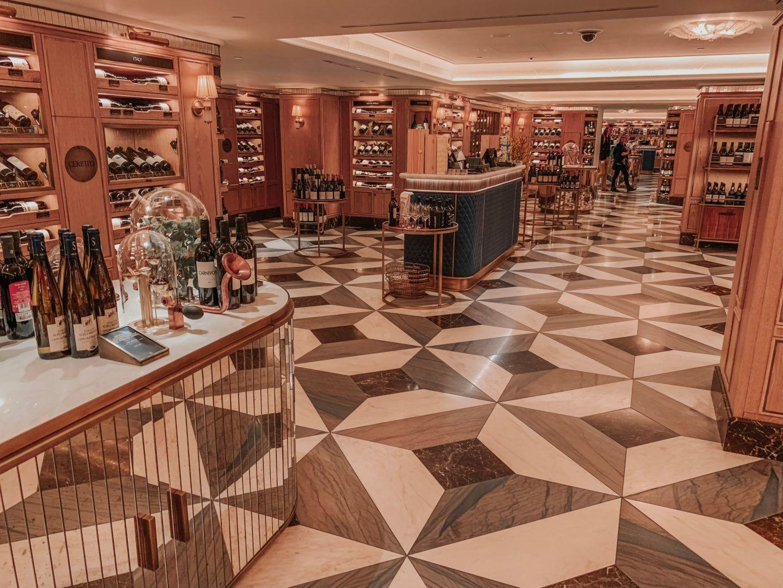 LAVISH FINE WINE AND SPIRITS ROOMS AT HARRODS
