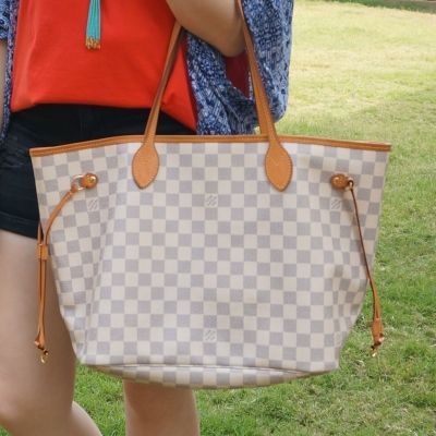 Louis Vuitton MM damier azur neverfull | awayfromblue