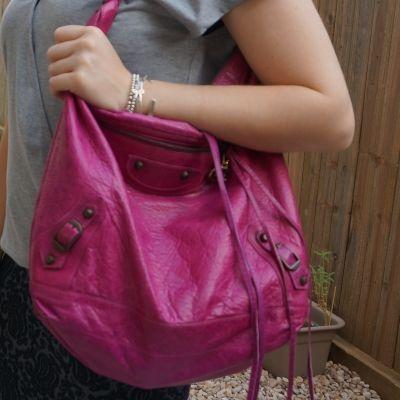 Balenciaga Day bag in 2005 magenta | away from the blue