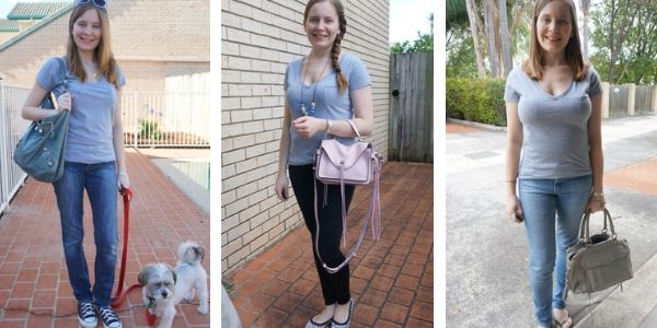 3 classic simple outfit ideas grey tee and jeans | away from the blue blog