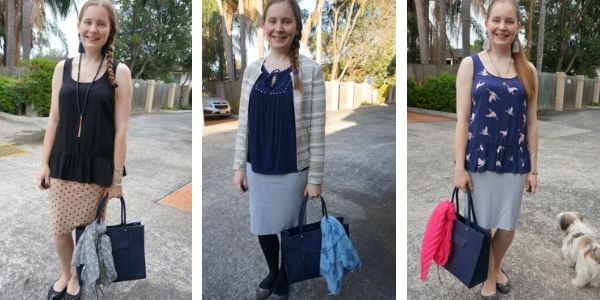 3 ways to accessorise a navy tote bag with a scarf | awayfromtheblue