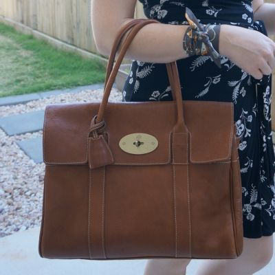 Hermes twilly Kelly en Calèche with Mulberry heritage bayswater oak nvt | away from the blue