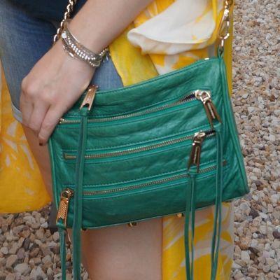 Rebecca Minkoff emerald green mini 5-zip rocker bag   awayfromtheblue