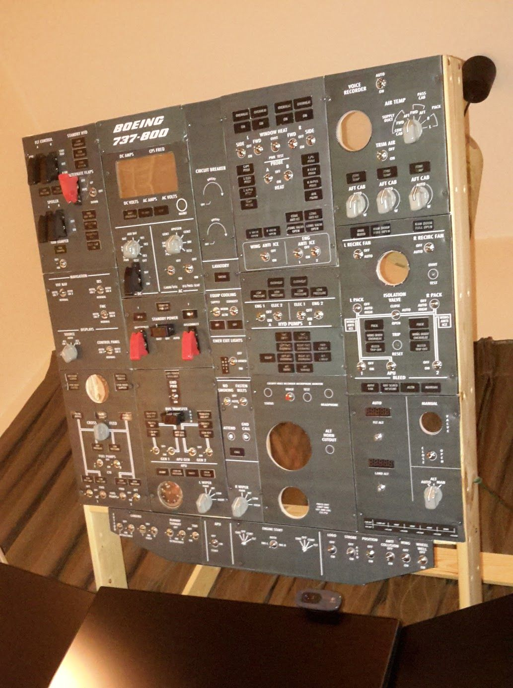 Diy Boeing 737 Overhead Panel Part 2 Panel Faces
