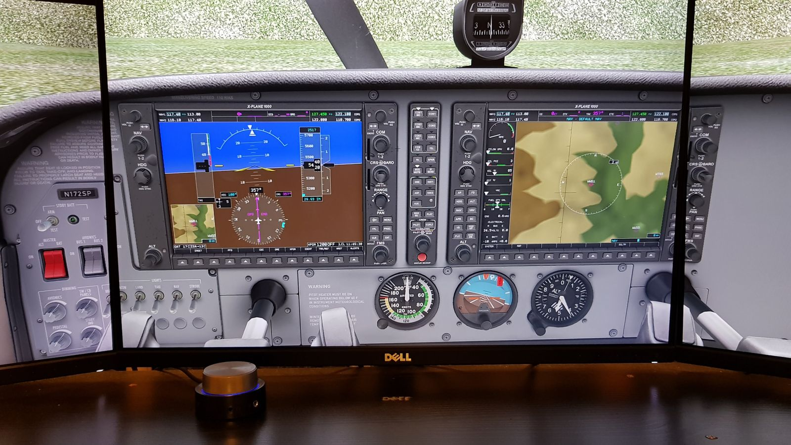 Removing the Frame from a X-Plane Garmin G1000 Popout Window