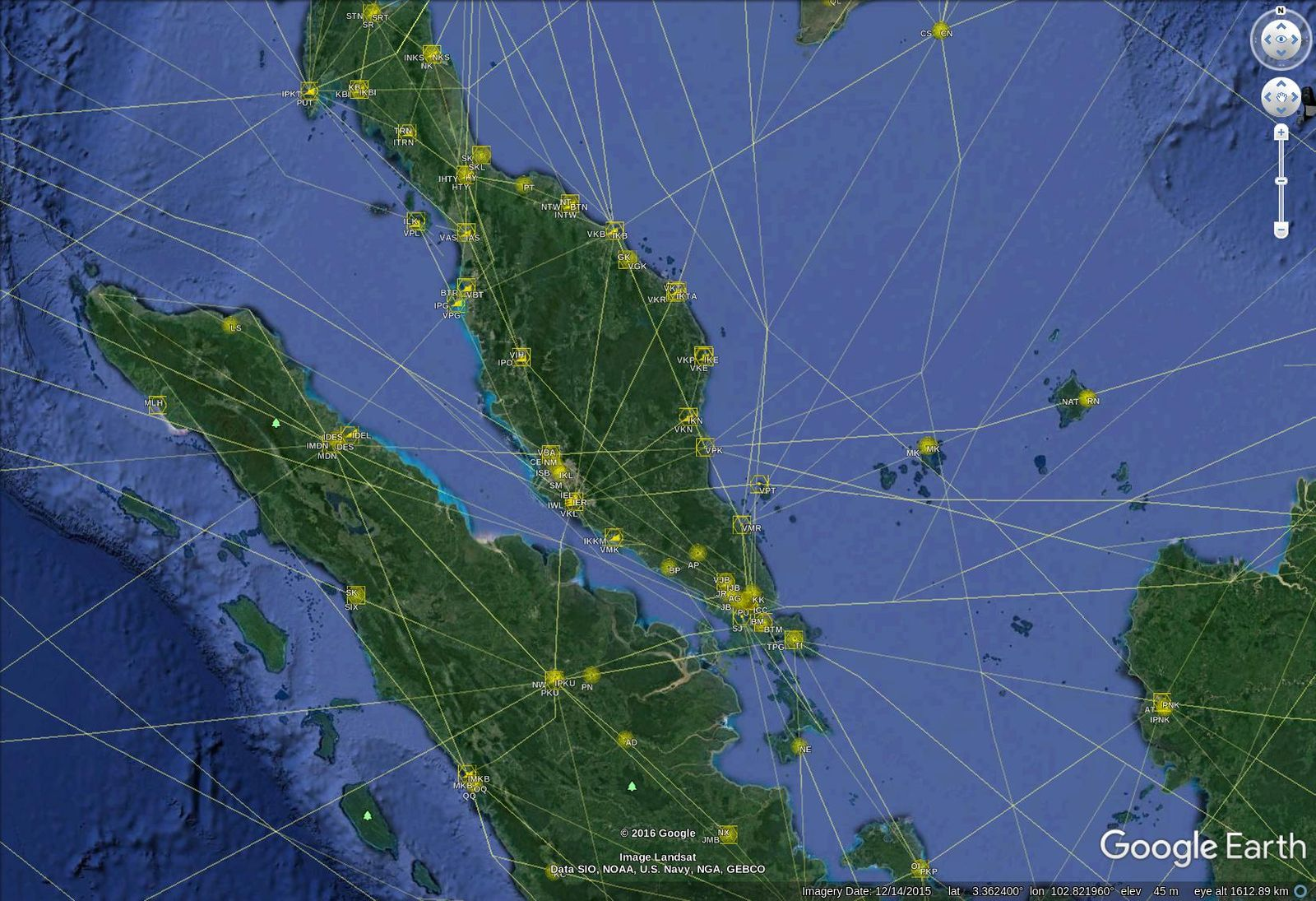 Aircraft Navigation Data Layer on Google Earth | Life, The