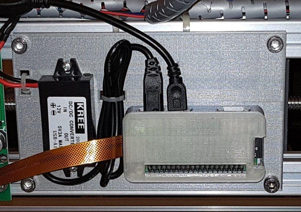 Adding a Raspberry Pi Zero W and CNC JS to the 3018
