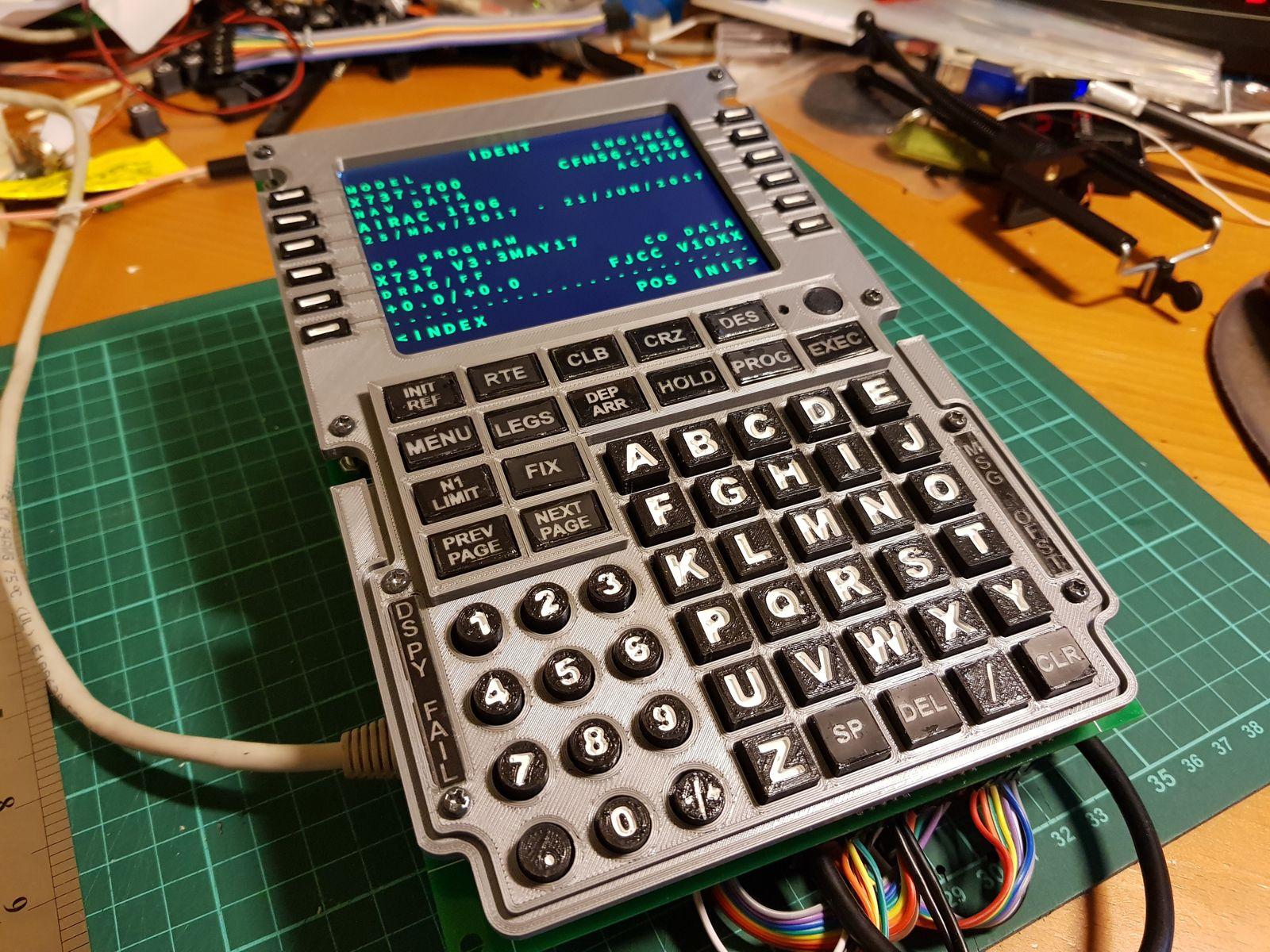 737 FMC CDU - Interfacing to a Raspberry Pi   Life, The Universe and