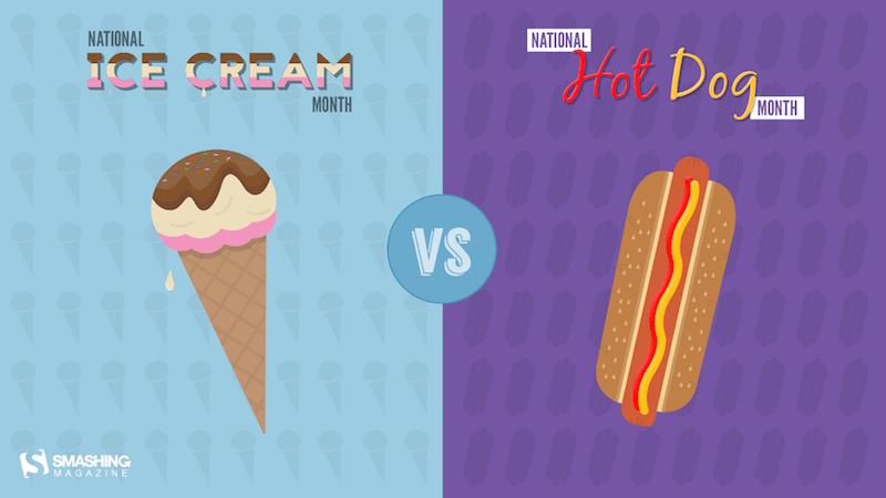 Ice Cream vs. Hot Dog