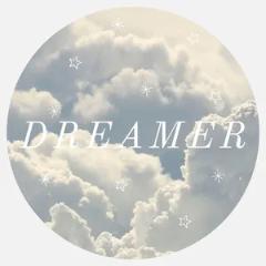 blue dreamer circular sticker  Sticker