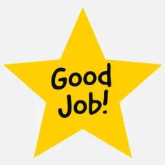 yellow good job star sticker Sticker