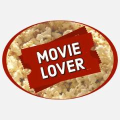 oval movie lover sticker Sticker