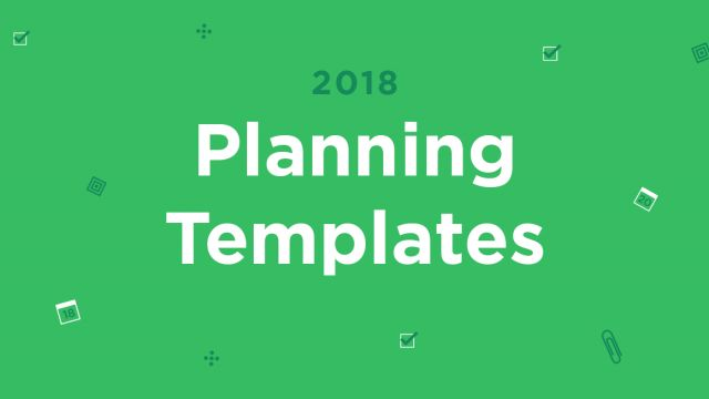 Make 2018 Happen with Evernote's 2018 Planner Templates