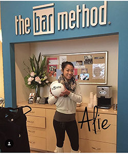 Alie Bui at her barre studio
