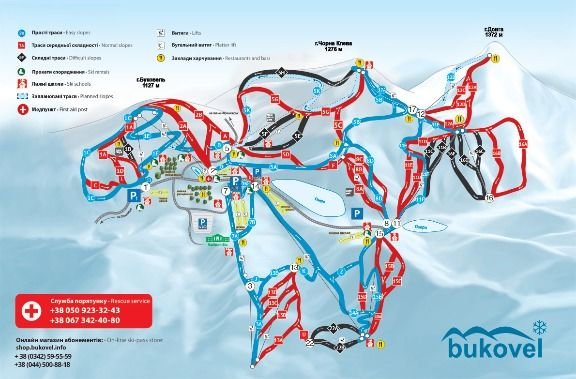 Bukovel ski map