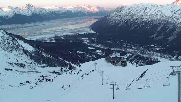 Turnagain arm from Alyeska ski resort