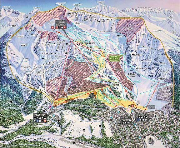 Alyeska ski map