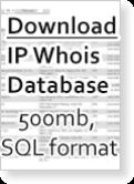World IP Whois Full MySQL Database - August