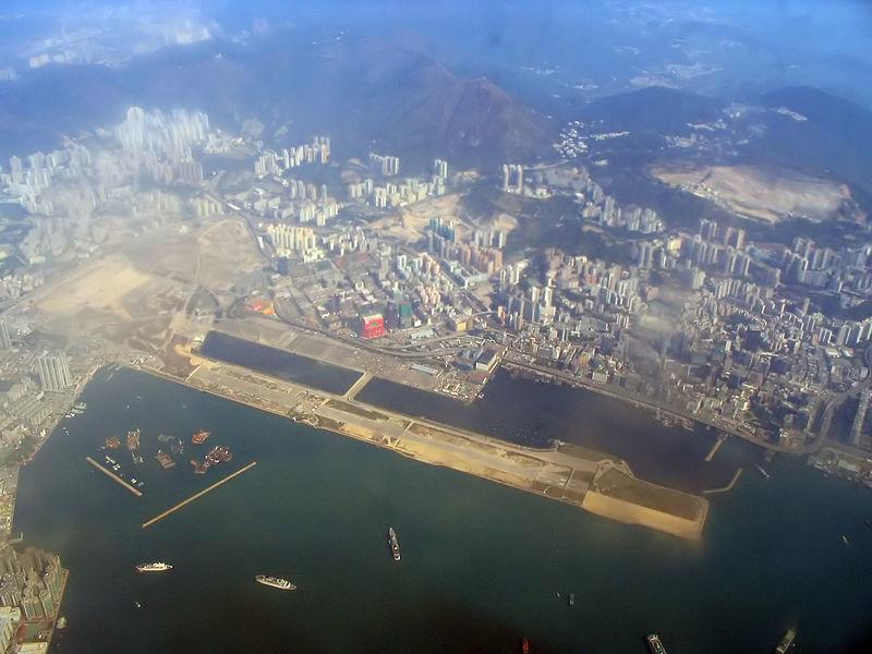 Kai Tak International Airport in Hong Kong