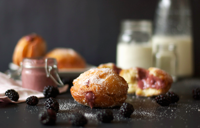 Blackberry Curd Filled Donuts