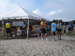 At the Assateague Island Pit Stop during the Seagull Century