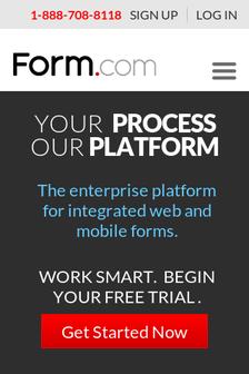 Mobile screenshot of form.com