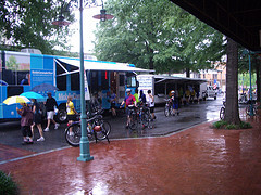 The soggy conclusion to the Arlington and Alexandria Community Bike Ride