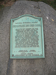 Plaque at the end of the C&O Canal