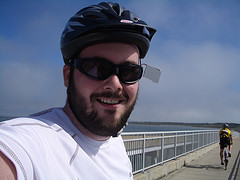 Me on the bridge to Assateague Island during the Seagull Century