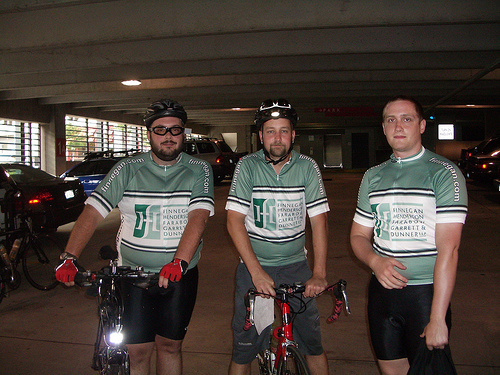 Me with Teammates at the Reston Tour de Cure 2008