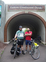 Dan and Me at the Continental Divide on the GAP
