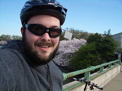 Me in front of Cherry Blossoms in DC 2008