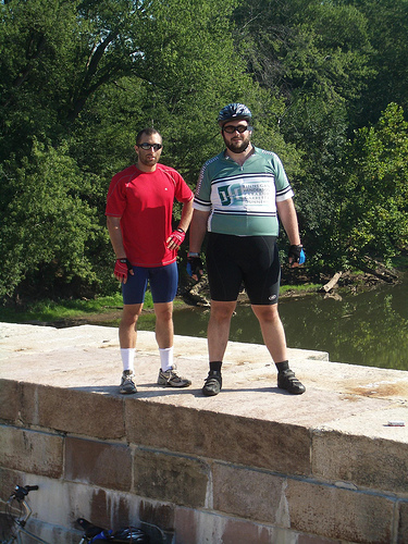 Dan and Me on the Monocacy River Aqueduct
